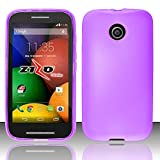 Cell Accessories For Less (TM) For Motorola E / Moto E - TPU Cover - Purple TPU + Bundle (Stylus & Micro Cleaning Cloth) - By TheTargetBuys