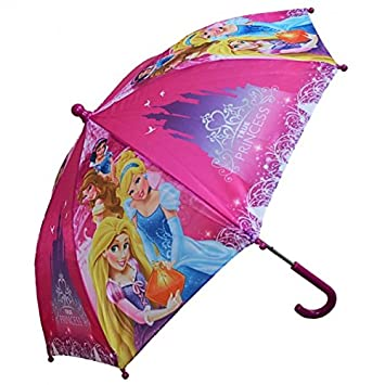 Princesas Disney - Paraguas de los Niños - True Princess - de Color Rosa / Borgoña