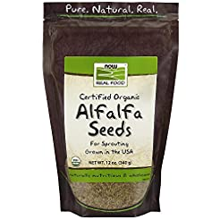 NOW Foods, Organic Alfalfa Seeds For Spr...