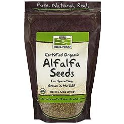 NOW Foods Organic Alfalfa Seeds, 12-Ounc...
