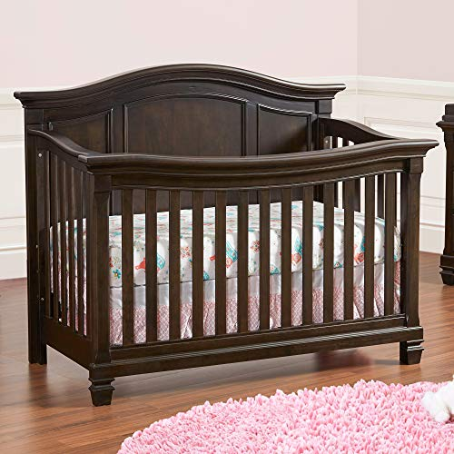 Baby Cache Glendale 4 in 1 Convertible Crib, Charcoal Brown (Furniture Glendale)