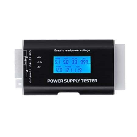 Asiproper Digital LCD Display PC Power Supply Tester Checker ATX ...