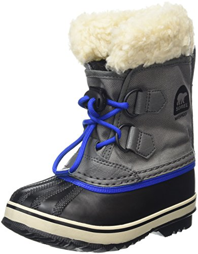 Sorel Kids' Childrens Yoot Pac Nylon-K Snow Boot, Grey, 8 M US Toddler ()
