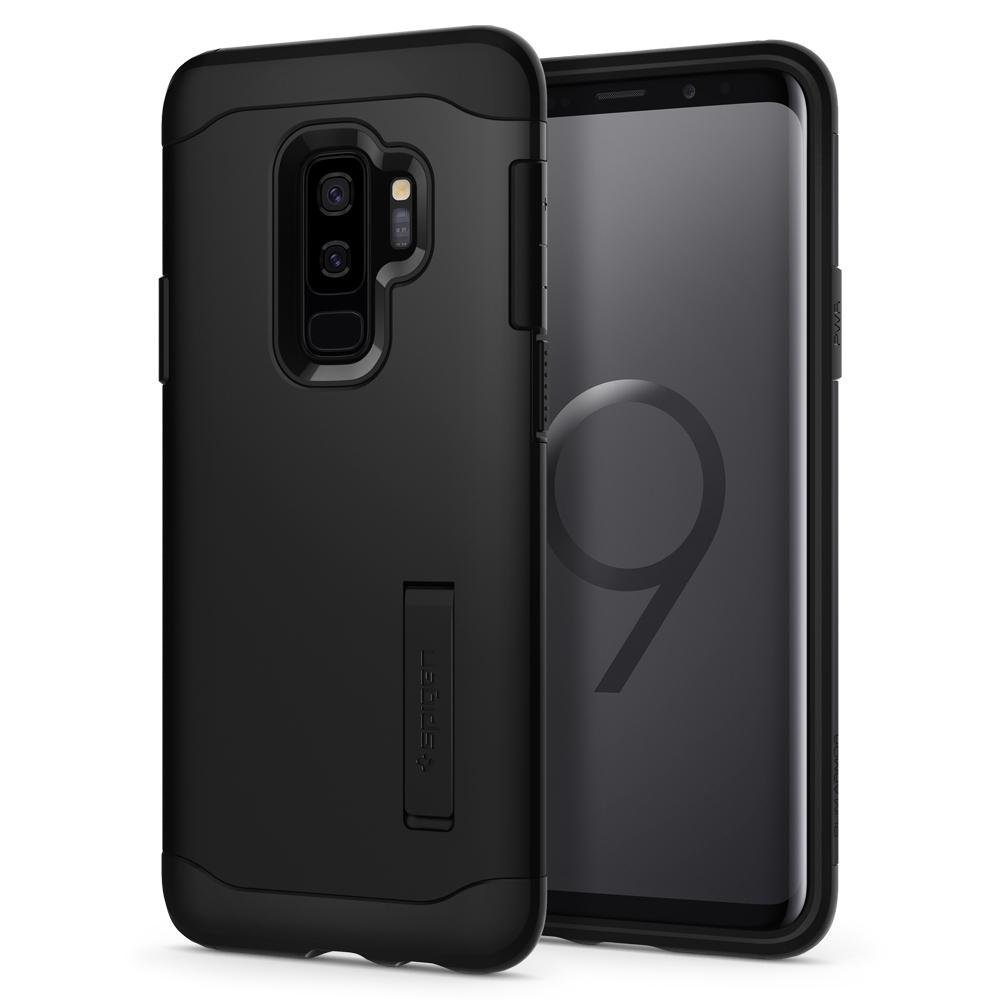 Spigen Coque Galaxy S9 Plus,  Slim Armor  Double Protection, Anti Choc   Noir  Air Cushion, Resistant Coque Housse Etui pour Galaxy S9+  (593CS22967)  ... 73b9615ffeed