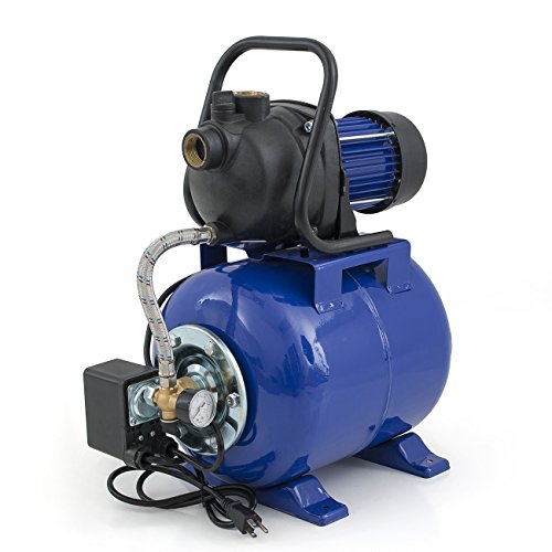 (ARKSEN Pressurized Water Booster Well Jet Pool Pump, 1.6HP, 1000GPH, 1200W)