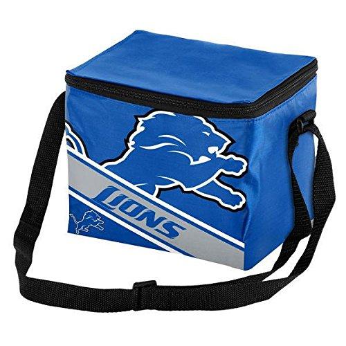 Box Lions Lunch (Detroit Lions Big Logo Stripe 12 Pack Cooler)
