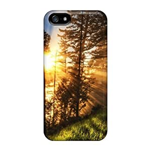 New Fashion Premium PC For Iphone 6 Plus Phone Case Cover - Sunset Between Trees