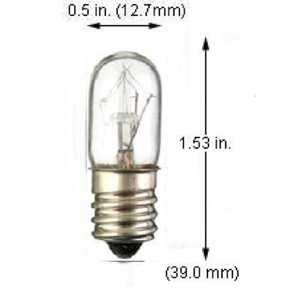 E12 Pack Of 10 15T4 15 Watt T4 Tubular Clear Candelabra Base Indicator Incandescent Light Bulbs