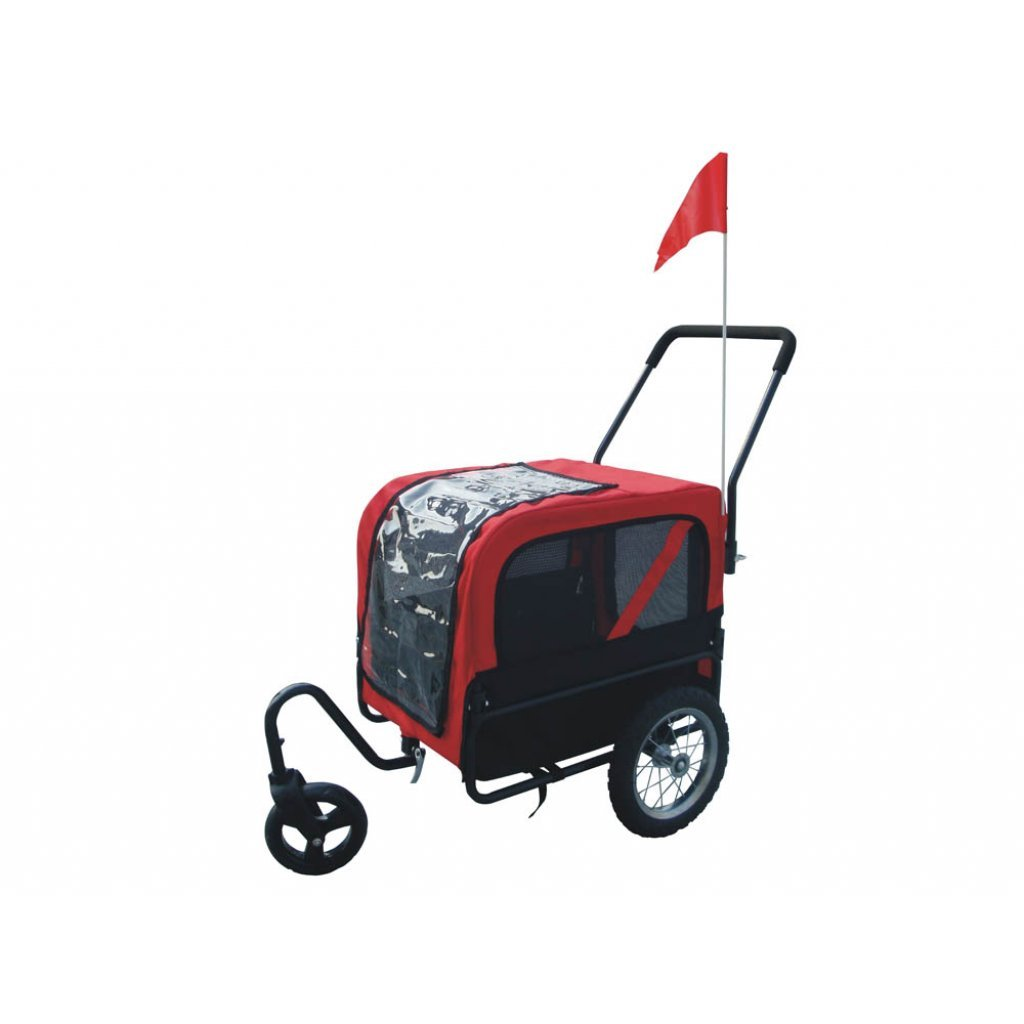 Anself Red Pet Dog Bike Trailer Jogger with Suspension