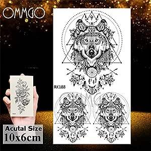 Zhuhuimin 5pcs Negro aman Etiqueta engomada del Tatuaje ...