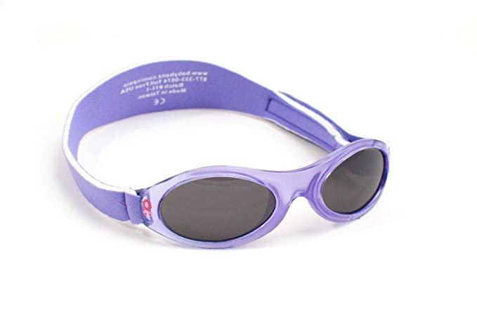 Baby Banz - Gafas de sol Ovaladas para niños, color Rosa (Lavender Tulip), talla 0-2 anos