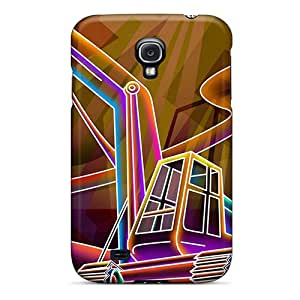 Rugged Skin Cases Covers For Galaxy S4- Eco-friendly Packaging(3d Neon Colorful 34)