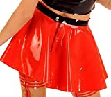 VsvoLatex-Womens-Latex-Rubber-Red-Skirt-Mini-Fetish-Wear