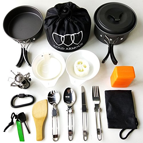 17Pcs-Camping-Cookware-Mess-Kit-3-COLORS-GREEN-ORANGE-BLACK-Backpacking-Gear-Hiking-Outdoors-Bug-Out-Bag-Cooking-Equipment-Cookset-Lightweight-Durable-Pot-Pan-Bowls