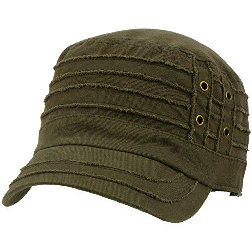 100% Cotton Light Summer Cool Military Cadet Castro Distress Hat Cap Gray