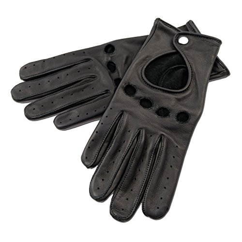 MOGENSEN Lyngby Damen Handschuhe Leder Cabrio (S, Schwarz)