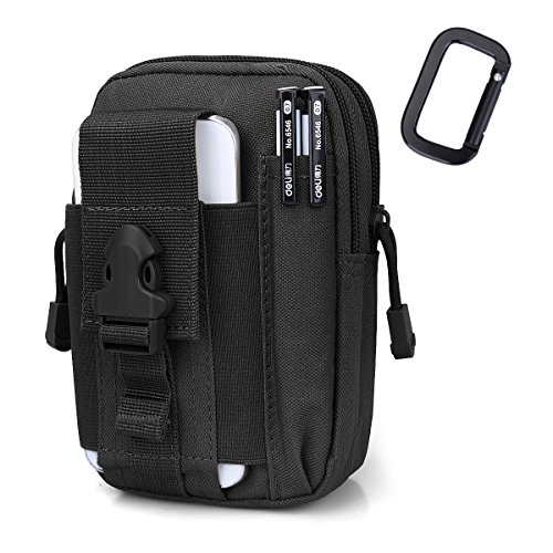 G4Free Tactical Molle Pouch Compact EDC Utility Gadget Waist Bag Pack CCW Fanny Pack with Cell Phone Holster for iPhone 6 Plus