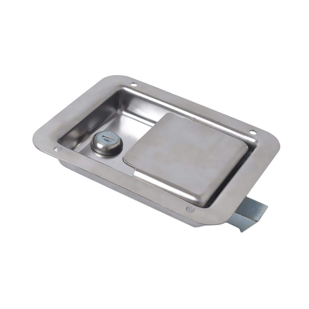 Chengstore Car Stainless Steel Trailer Toolbox Lock Door Lock in-Line Lock Tool Tear Drop Latch Stainless Steel Box Lock Stainless Steel Paddle Latch by Chengstore (Image #8)