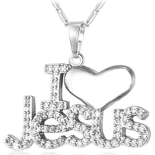 U7 Christian Jewelry Necklace Zirconia