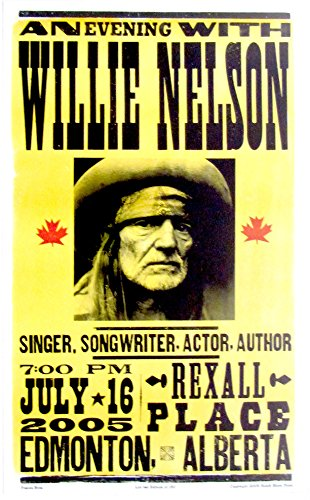 Willie Nelson Edmonton Alberta 2005 Hatch Show - Nelson Alberta