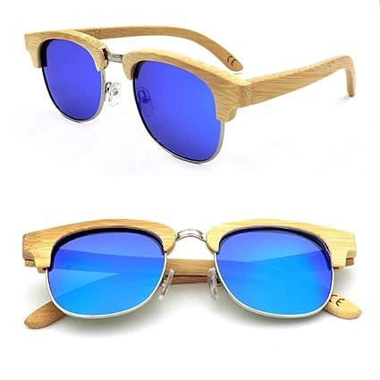 She charm Gafas polarizadas, Gafas de Sol de Medio Marco de ...