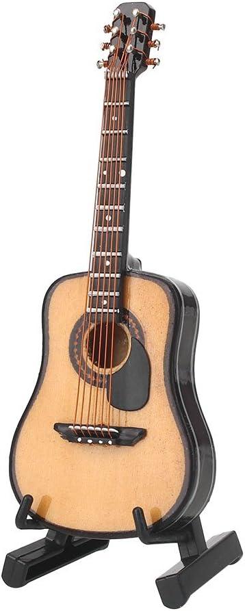 Modelo de guitarra WLGREATSP, 1:12 guitarra de madera en miniatura ...