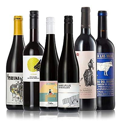 GEILE WEINE Weinpaket Rotwein trocken (6 x 0,75) Probierpaket mit Rotweinen von Winzern aus Deutschland, Spanien…