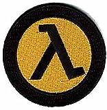 valve half life - Half-Life 2 Valve Freeman Lambda EMBROIDERED PATCH Badge Iron-on, Sew On 3.75