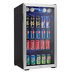 Danby 120 Can Beverage Center, Stainless Steel DBC...