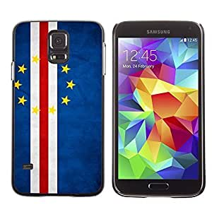 Shell-Star ( National Flag Series-Cape Verde ) Snap On Hard Protective Case For Samsung Galaxy S5 V SM-G900
