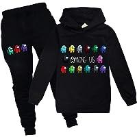 Among us Game Boy Pullover Hooded Sweatshirt Long Sleeve Hoodies Set with Pants Tracksuit for Kid Girls