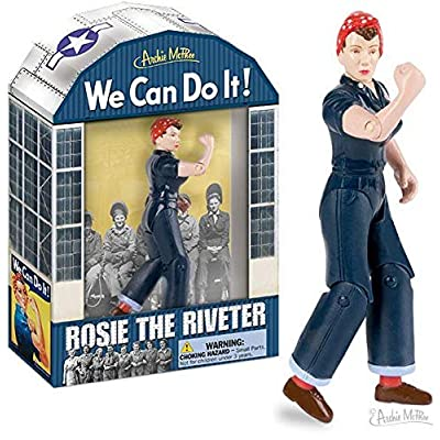 Accoutrements Rosie The Riveter Action Figure: Toys & Games