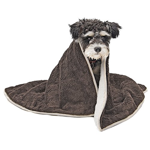 PAWZ Road Dog Blanket Fluffy Skin-friendly and Warm,Double-Sided,No Shedding for Cats Dogs and Small Animals Coffee