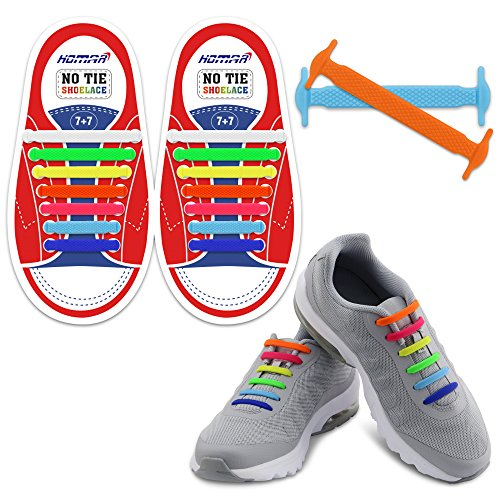 166cf5969e6d HOMAR Kids Elastic Athletic Flat No Tie Shoelaces - Best in Sports Outdoors  Fan Shop Footwear