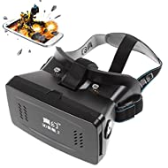 riversong (TM) Lunettes 3D VR Casque virtuel 3D VR pour 10,2cm à 15,2cm iPhone & Android Smartphone, pour 3D Films et jeux