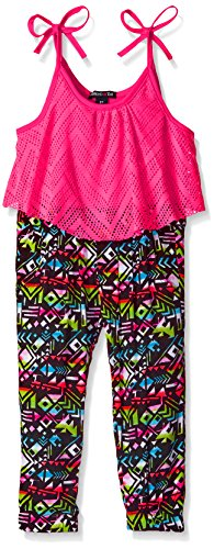 Limited Too Girls' Tank and Pant Romper, PE88-Neon Hot Pi...