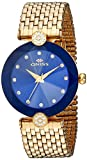 Oniss Paris Women's Quartz Stainless Steel Dress Watch, Color:Gold-Toned (Model: ON8777-LG/BU)