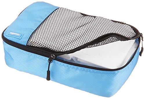 51se%2BKUtrGL - AmazonBasics 4 Piece Small Packing Travel Organizer Cubes Set - Sky Blue