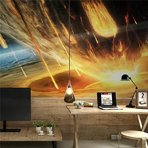 Amazon Com Large 3d Stereo Wallpaper Mural Meteor World Background Background Bedroom Tv Background Wall Home Kitchen