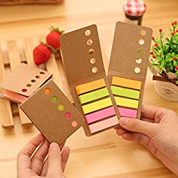 6 pcs/Lot Rainbow diary sticker post it bookmarker note Folding memo pad sticky notes Office accessories