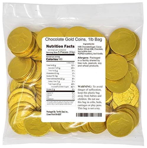 (Chocolate Gold Coins, 1lb Bag)