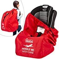 Car Seat Travel Bag for Airplane | Protect from Germs. Stay Safe. Airport Gate Check Bag Approved. Universal Size, Baby Infant Seat Travel Bag Cover with Padded Adjustable Straps