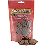 Real Meat Venison Jerky Dog Treats 12oz (2 Pack)