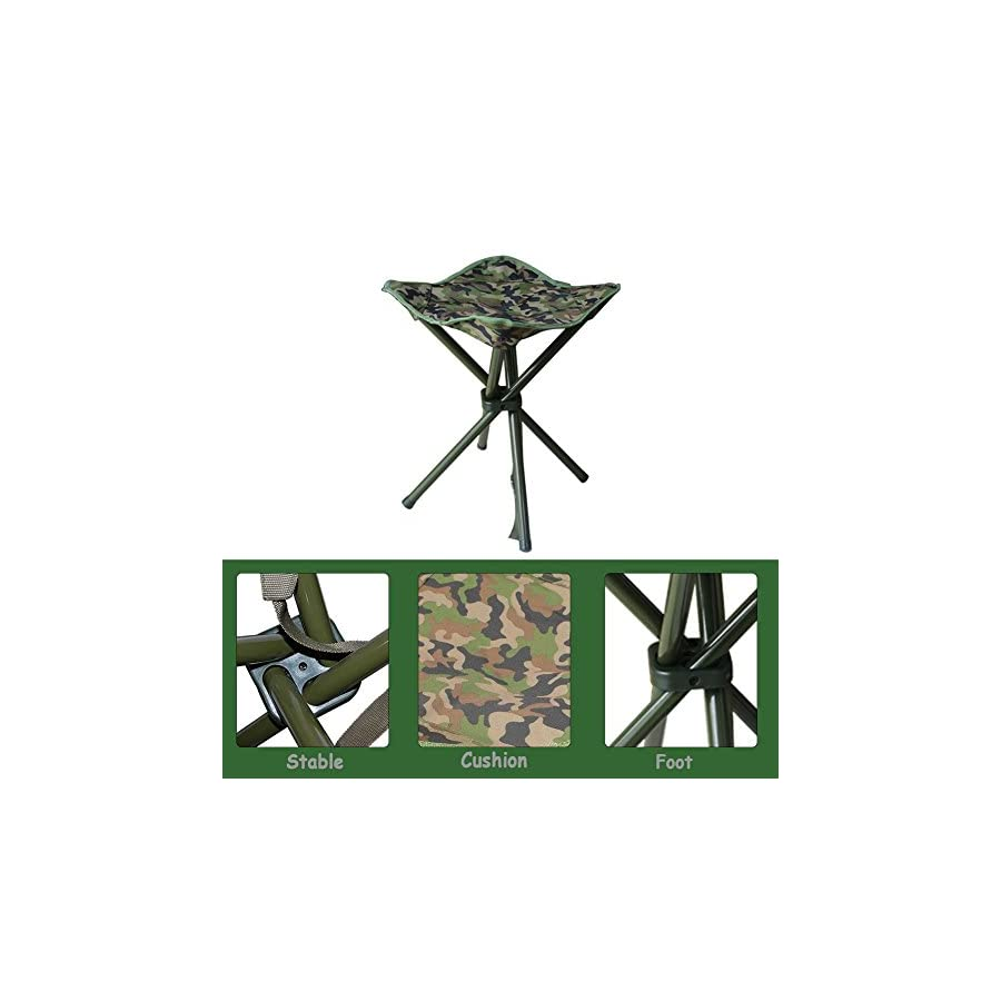 AGOOL Portable Folding Stool Outdoor Square Slack Chair Lightweight Heavy Duty for Camping Mountaineering Hiking Travel House using Recreation