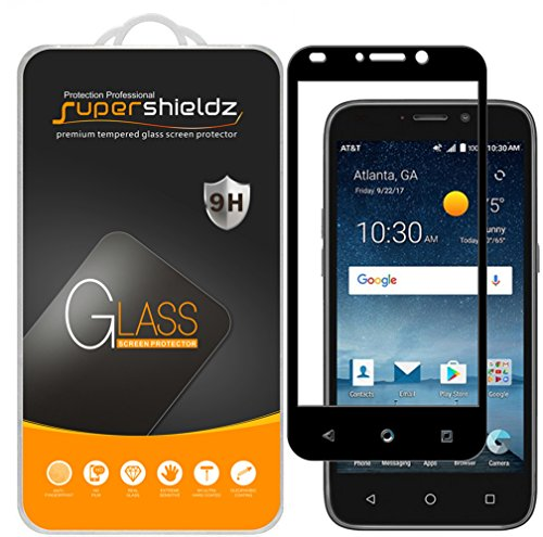 [2-Pack] Supershieldz for ZTE Overture 3 Tempered Glass Screen Protector, [Full Screen Coverage] Anti-Scratch, Bubble Free, Lifetime Replacement Warranty (Black)