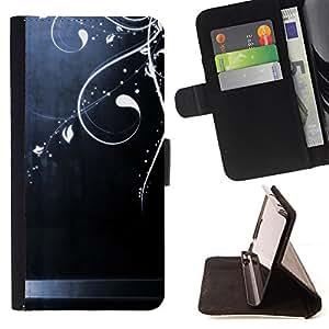 """For Samsung Galaxy A5 ( A5000 ) 2014 Version,S-type Acero cepillado Arte Brillante floral"""" - Dibujo PU billetera de cuero Funda Case Caso de la piel de la bolsa protectora"""