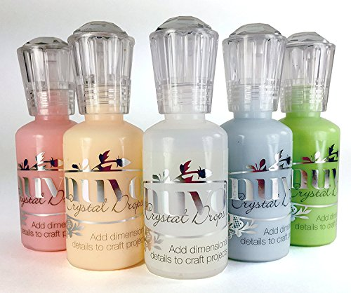 Nuvo Crystal Drops - Pastel Set - Duck Egg Blue, Apple Green, Bubblegum Blush, Buttermilk & Morning Dew by Nuvo