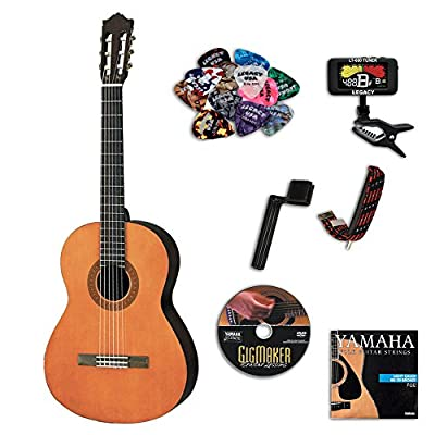 Yamaha C40II Full-Size Student Classical Guitar, Natural, with Legacy Accessory Bundle