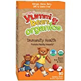 Yummi Bears Organics Immunity Health Supplement for Kids, 90 Gummy Bears