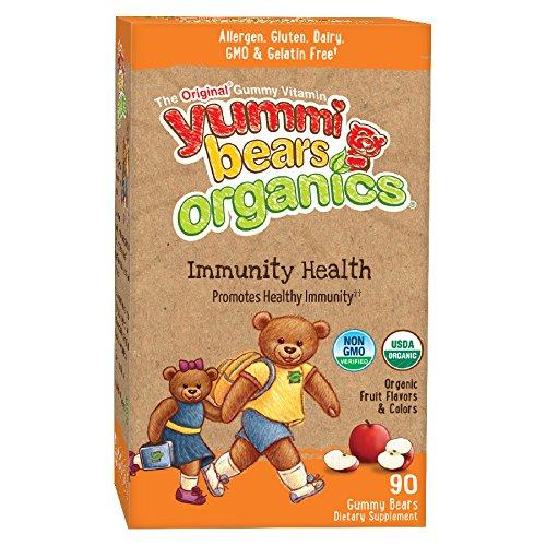 Yummi ours Organics immunité santé supplément pour les enfants, 90 Gummy Bears